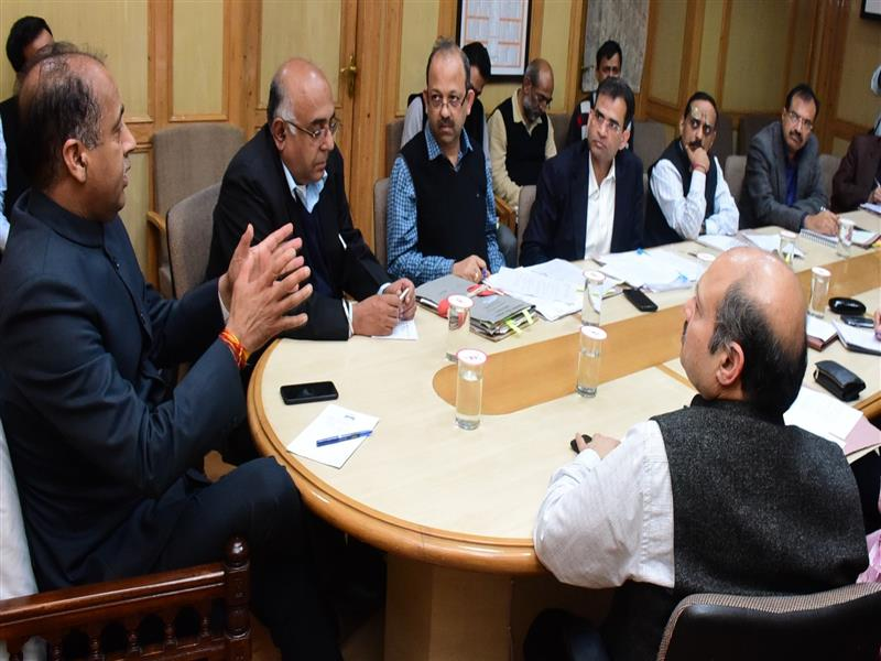 Chief Minister Shri Jai Ram Thakur presiding over the meeting regarding drug menace campaign at Shimla on 14 Sep 2018.