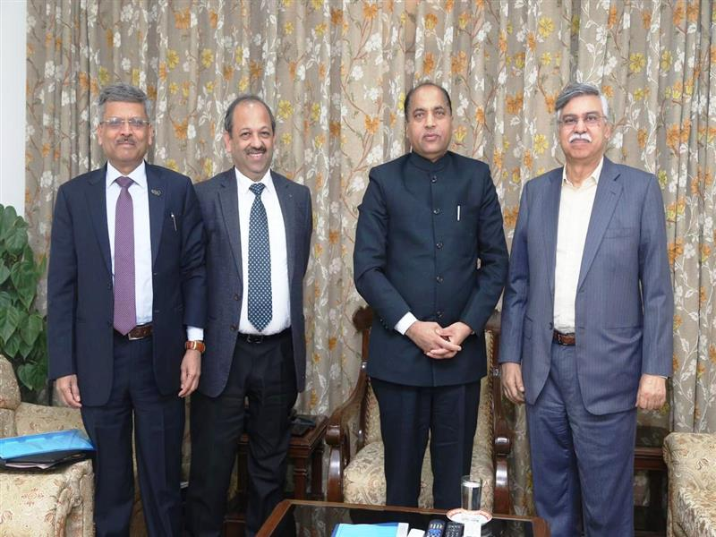 Chief Minister Shri Jai Ram Thakur meets top industrialists from leading industrial houses at New Delhi on 10 January 2019