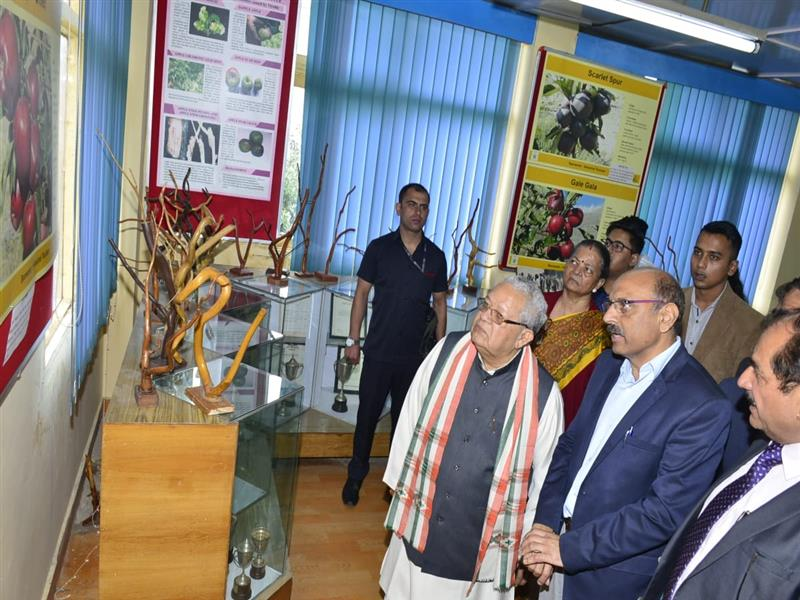 Governor Shri Kalraj Mishra along with Lady Governor Satyavati Mishra during their visit to Regional Horticulture Research and Training Station at Craignano (Mashobra) at Shimla on 11 August 2019