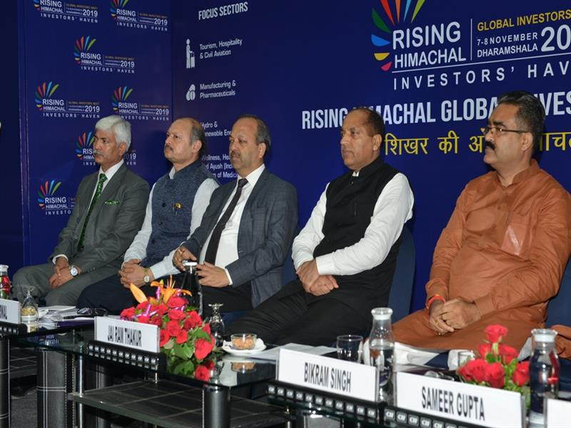Chief Minister Jai Ram Thakur during  the Domestic Roadshow and Himachal Pradesh global Investor Meet-2019 at Chandigarh on 13 Aug 2019