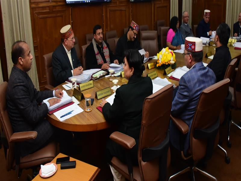 Chief Minister Jai Ram Thakur presiding over Cabinet Meeting at Shimla  on 2 Dec 2019.