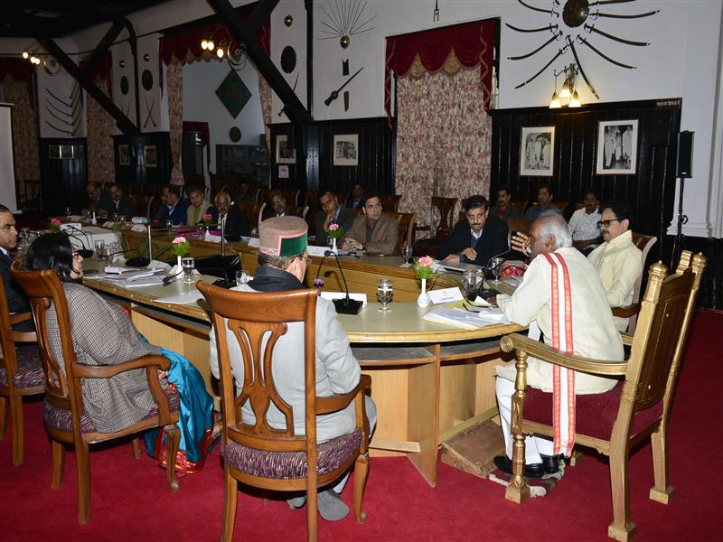Governor Shri Bandaru Dattatraya presiding over a high-level meeting  at Raj Bhawan in Shimla on 14 February 2020