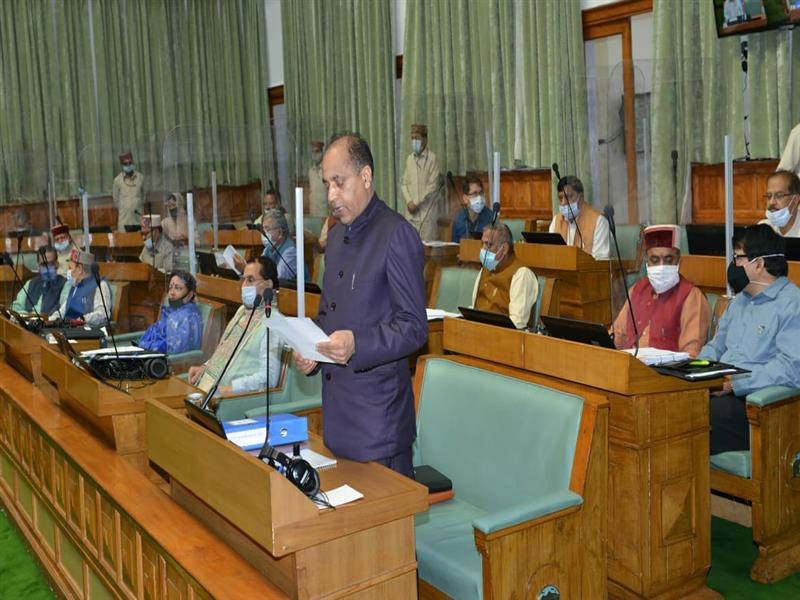 Chief Minister Shri Jai Ram Thakur addressing the Monsoon Session of  State Vidhan Sabha at Shimla on 16 Sept. 2020.