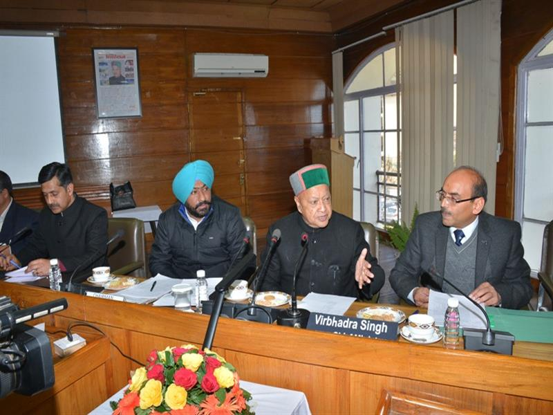 Chief Minister Shri Virbhadra Singh  presiding over the meeting of Indian National Trade Union Congress at Shimla on 18 March 2017.